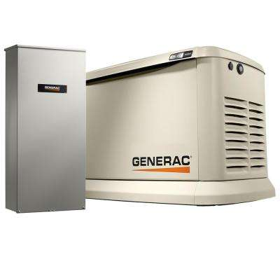 20,000-Watt Air-Cooled Variable Speed Standby Generator with 200 Amp Automatic Transfer Switch (Non SE Rated)