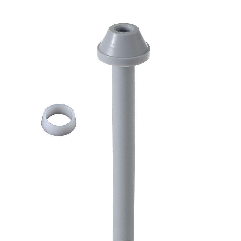 Everbilt 3/8 in. O.D. x 20 in. PEX Toilet Riser with Plastic ...