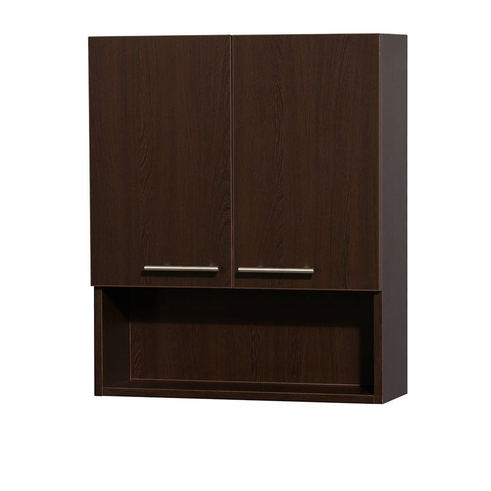 wyndham collection amare 24 in w x 29 in h x 8 3 - Wall Mounted Bathroom Cabinet