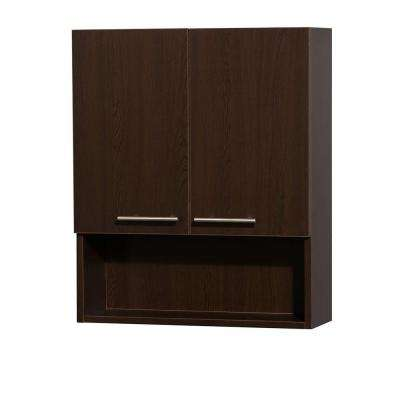 Amare 24 in. W x 29 in. H x 8-3/4 in. D Bathroom Storage Wall Cabinet in Espresso