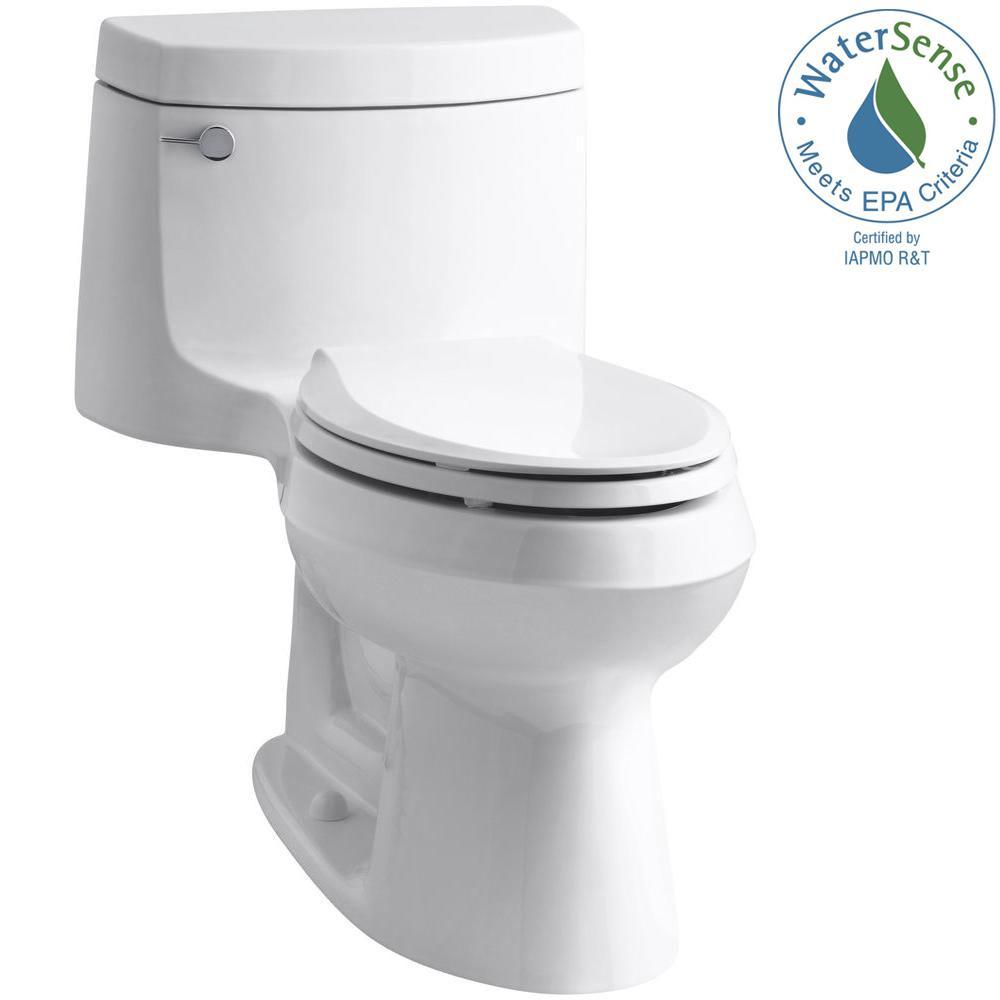 KOHLER Cimarron 1-piece 1.28 GPF Single Flush Elongated Toilet with AquaPiston Flush Technology in White