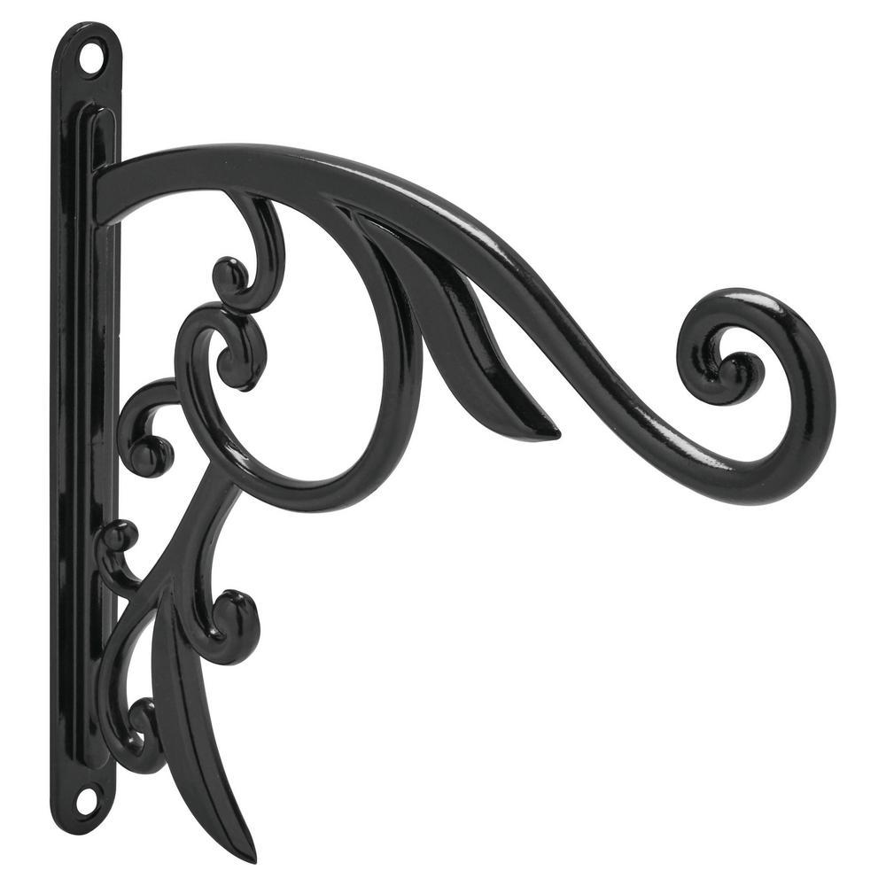 9 in. Black Iron Decorative Plant Bracket