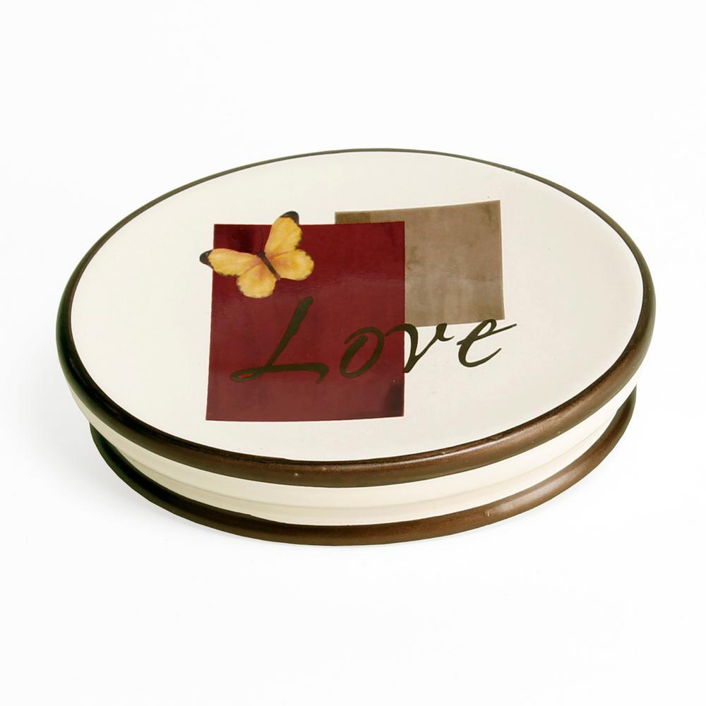 Grace Free Standing Stoneware Soap Dish