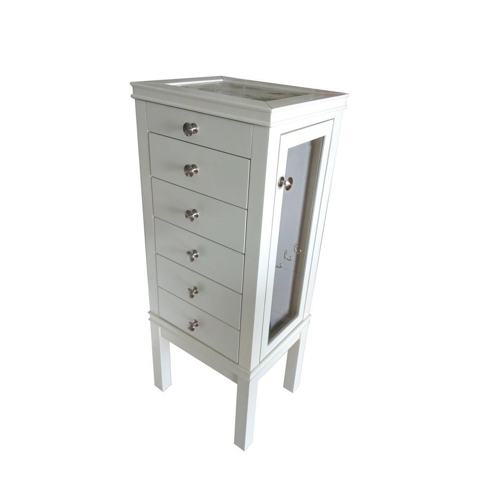Home Decorators Collection 39 In. X 16 In. 5 Drawer Jewelry Tower In