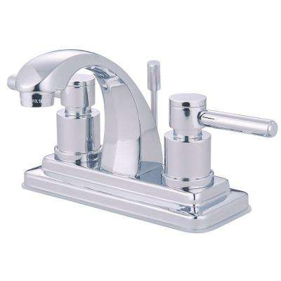 4 in. Centerset 2-Handle Mid-Arc Bathroom Faucet in Chrome