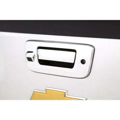 Chrome Tailgate Handle Cover(TM) - w/Back Up Camera And Keyhole
