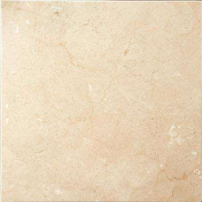 Marble Crema Marfil Plus Polished 12.01 in. x 12.01 in. Marble Floor and Wall Tile