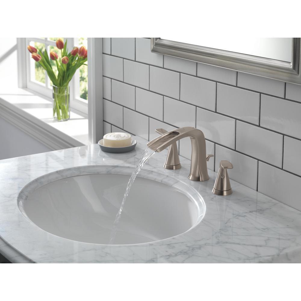 Tolva 8 in. Widespread 2-Handle Bathroom Faucet in Brushed Nickel