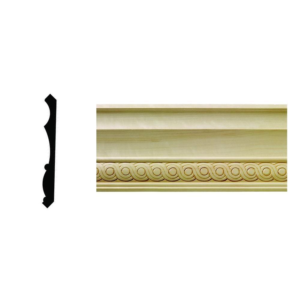 Ornamental Mouldings 1631WHW 13/16 In. X 3-3/4 In. X 9 In