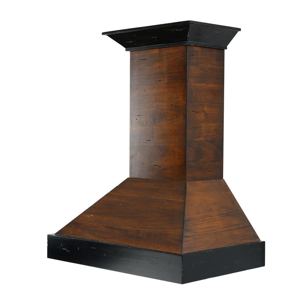 Z Line 42 in. Wooden Wall Mount Range Hood in Antigua and...