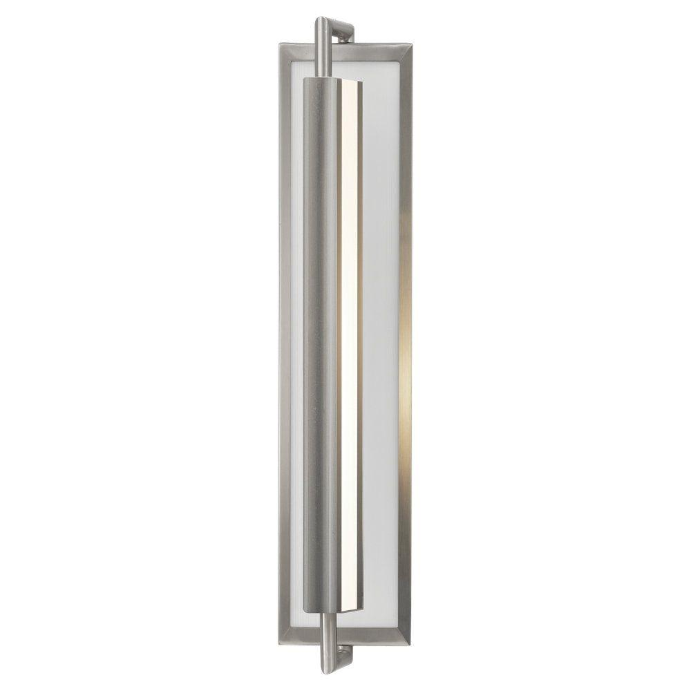 Mila 2-Light Brushed Steel Wall Sconce
