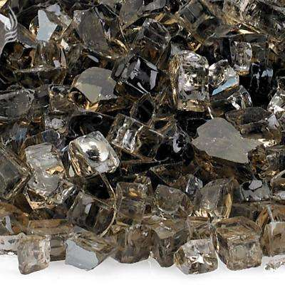 1/4 in. Bronze Reflective Fire Glass 10 lbs. Bag
