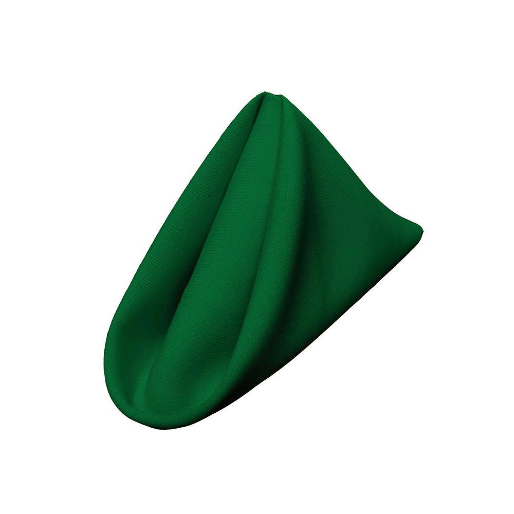 """""""18 in. x 18 in. Emerald Green Polyester Poplin Napkin (10-Pack)"""""""