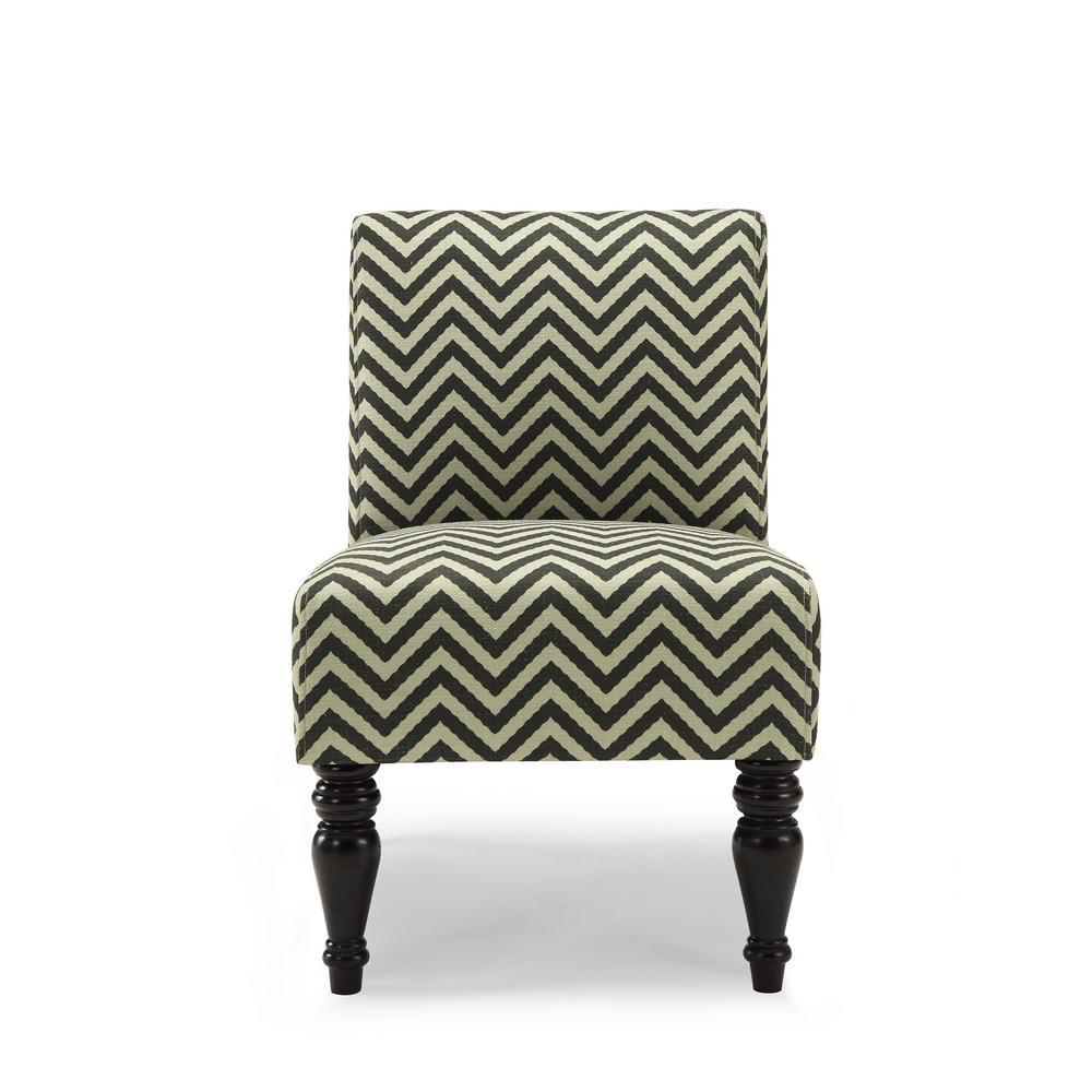 Wondrous Chevron Accent Chairs Chairs The Home Depot Machost Co Dining Chair Design Ideas Machostcouk