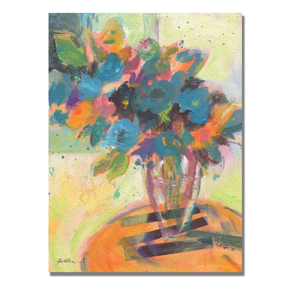 35 in. x 47 in. Blue Blossoming Canvas Art