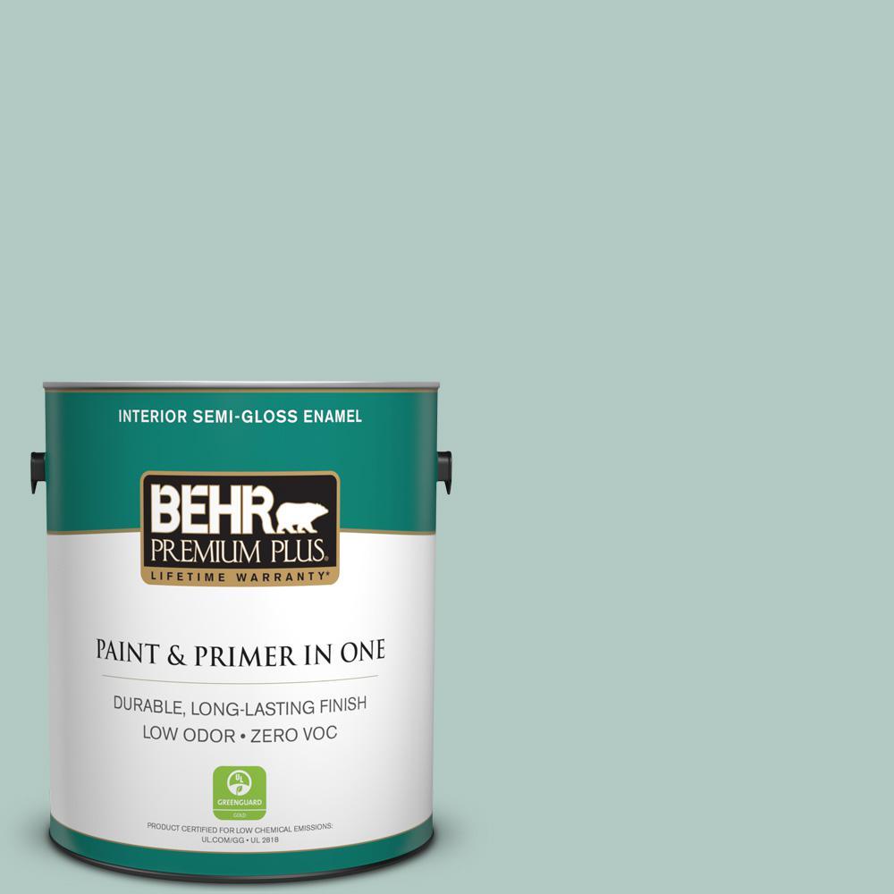 BEHR Premium Plus 1-gal. #S430-2 Fresh Tone Semi-Gloss Enamel Interior Paint