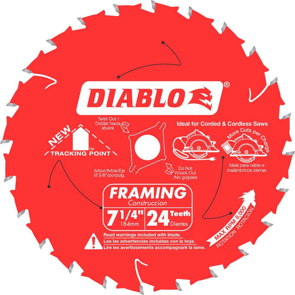 Diablo 7 14 in x 24 teeth tracking point framing saw blade d0724r diablo 7 14 in x 24 teeth tracking point framing saw greentooth Images