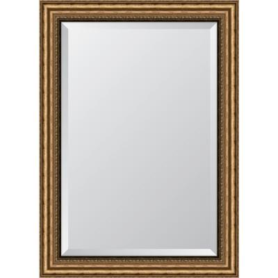 "32 in. x 44 in. Framed 3-3/8"" Antique Gold Resin Frame Mirror"