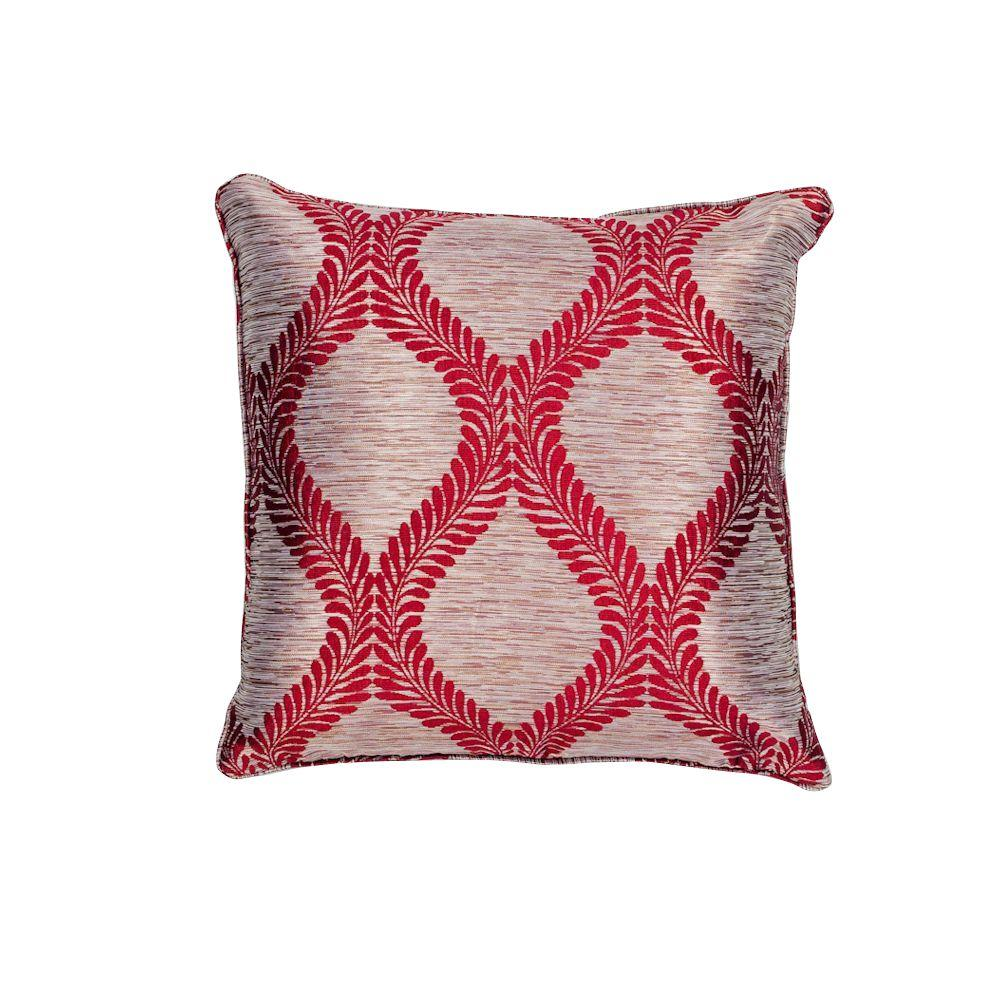 Throw Pillows And Rugs : Kas Rugs Bordeaux Red Decorative Pillow-PILL23920SQ - The Home Depot
