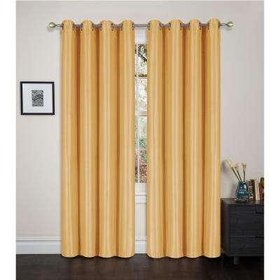 Blackout Maddie 84 In L Grommet Top Curtain Gold