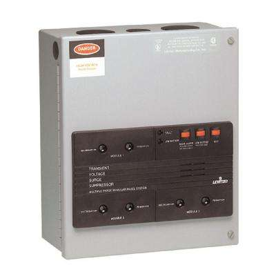 120/208-Volt 3-Phase WYE Surge Panel with Replaceable Surge Modules, Gray