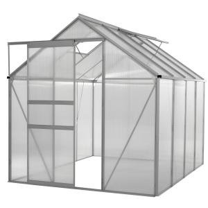 Ogrow Walk-in 6 ft. x 8 ft. Lawn and Garden Greenhouse with Heavy Duty Aluminum Frame by Ogrow