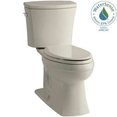 Kelston Comfort Height 2-piece 1.28 GPF Single Flush Elongated Toilet with AquaPiston Flushing Technology in Sandbar
