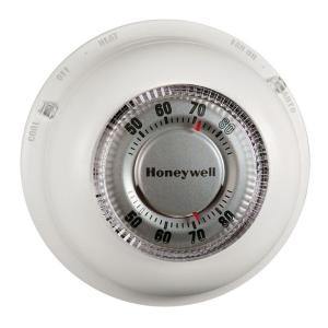 honeywell round heat cool thermostat ct87n the home depot rh homedepot com honeywell lyric round thermostat wiring Honeywell T87F Thermostat Wiring