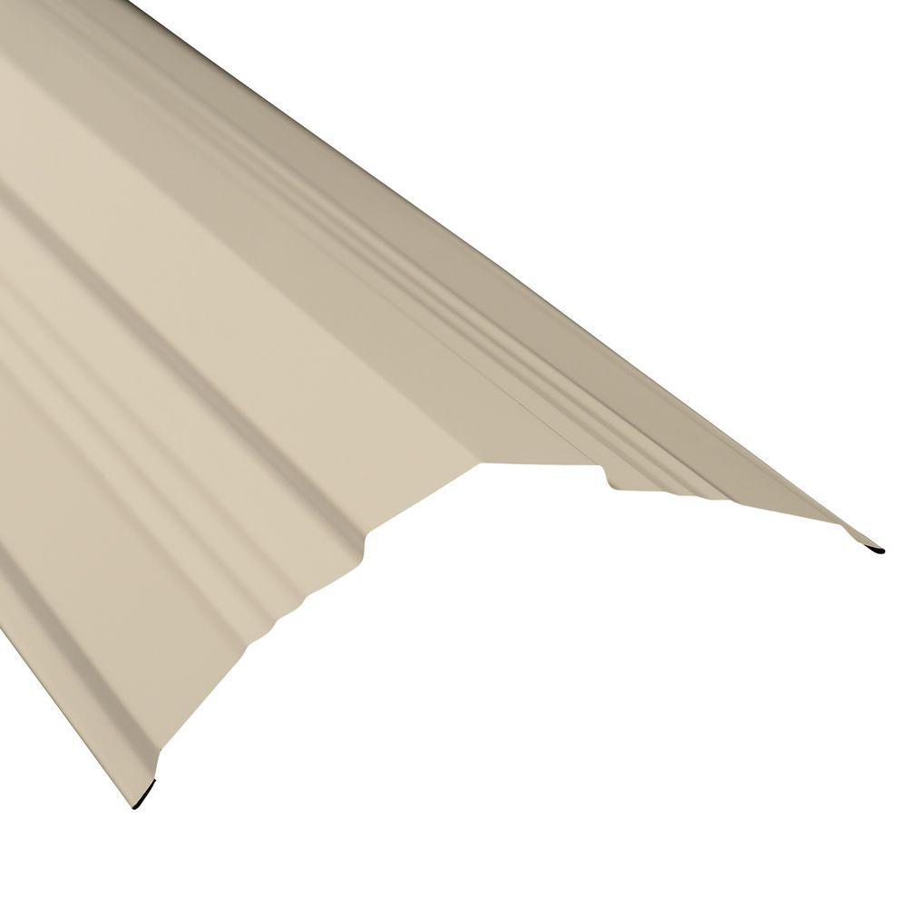 Metal Sales 14 In White Universal Ridge Flashing 4202330