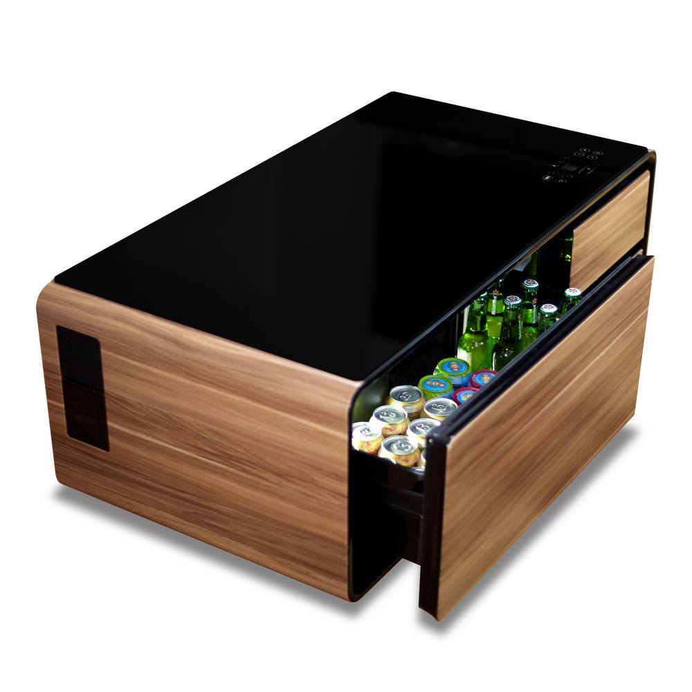Sobro Black And Wood Grain Coffee Table Soctb300wdbk The