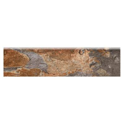 VitaElegante Ardesia 3 in. x 12 in. Glazed Porcelain Floor and Wall Bullnose Tile (0.26 sq. ft. / piece)