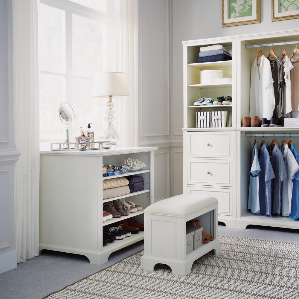 Home Styles Naples White Storage Bench