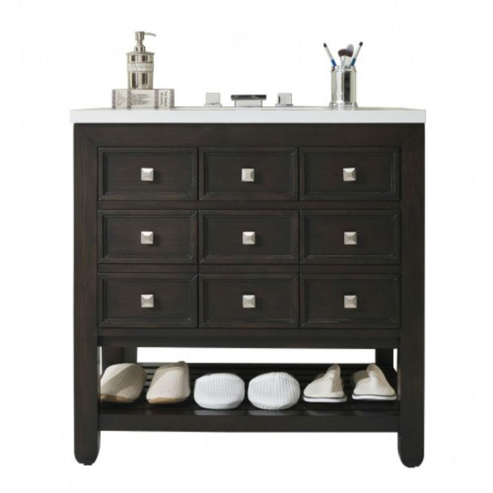 James Martin Signature Vanities Victoria 33 In W Single Bath Vanity Cerused Espresso Oak
