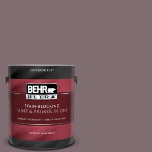 Behr Ultra 1 Gal N110 5 Royal Raisin Flat Exterior Paint And Primer In One 485301 The Home Depot