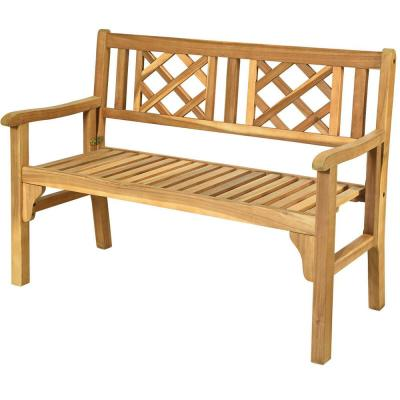 Teak Outdoor Benches Patio Chairs The Home Depot