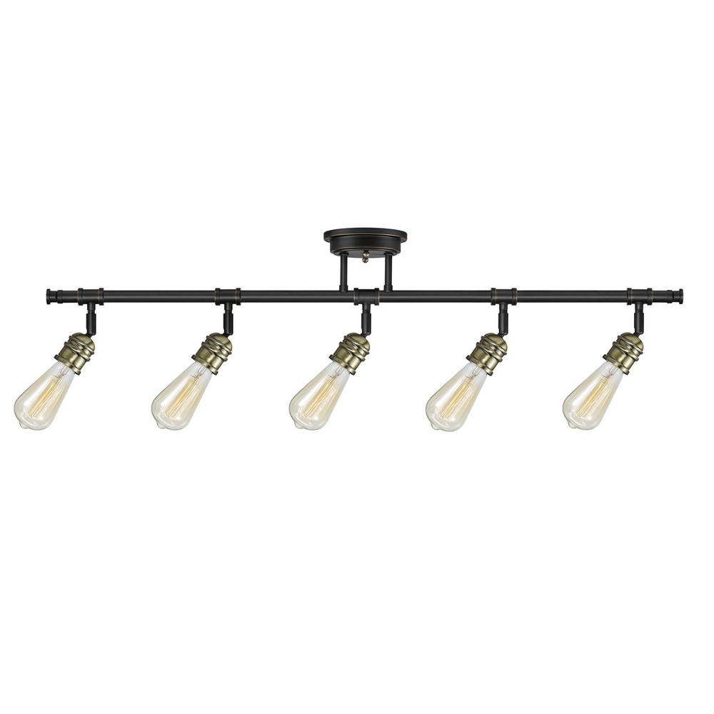 5 Light Oil Rubbed Bronze Track Lighting Kit