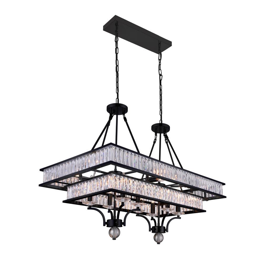 Cwi lighting shalia 16 light black chandelier 9972p37 16 101 the cwi lighting shalia 16 light black chandelier aloadofball Images