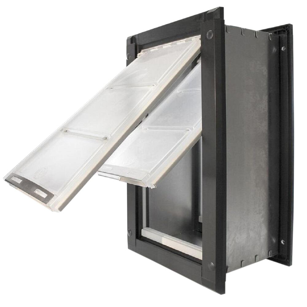 Endura Flap 8 In X 14 In Medium Double Flap For Walls With Black