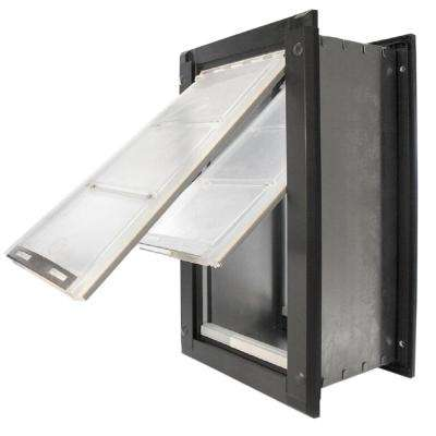 8 in. x 14 in. Medium Double Flap for Walls with Black Aluminum Frame