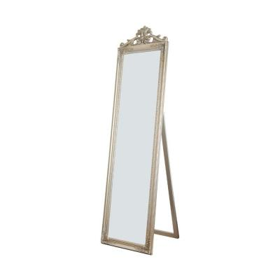 Oversized Champagne Wood Modern Mirror (67 in. H X 1.9 in. W)
