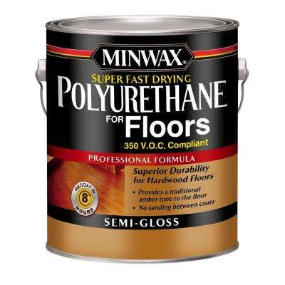 1 gal. Semi-Gloss Super Fast-Drying Polyurethane for Hardwood Floors (2-Pack)