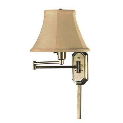 1 Light Antique Brass Swing Arm Lamp