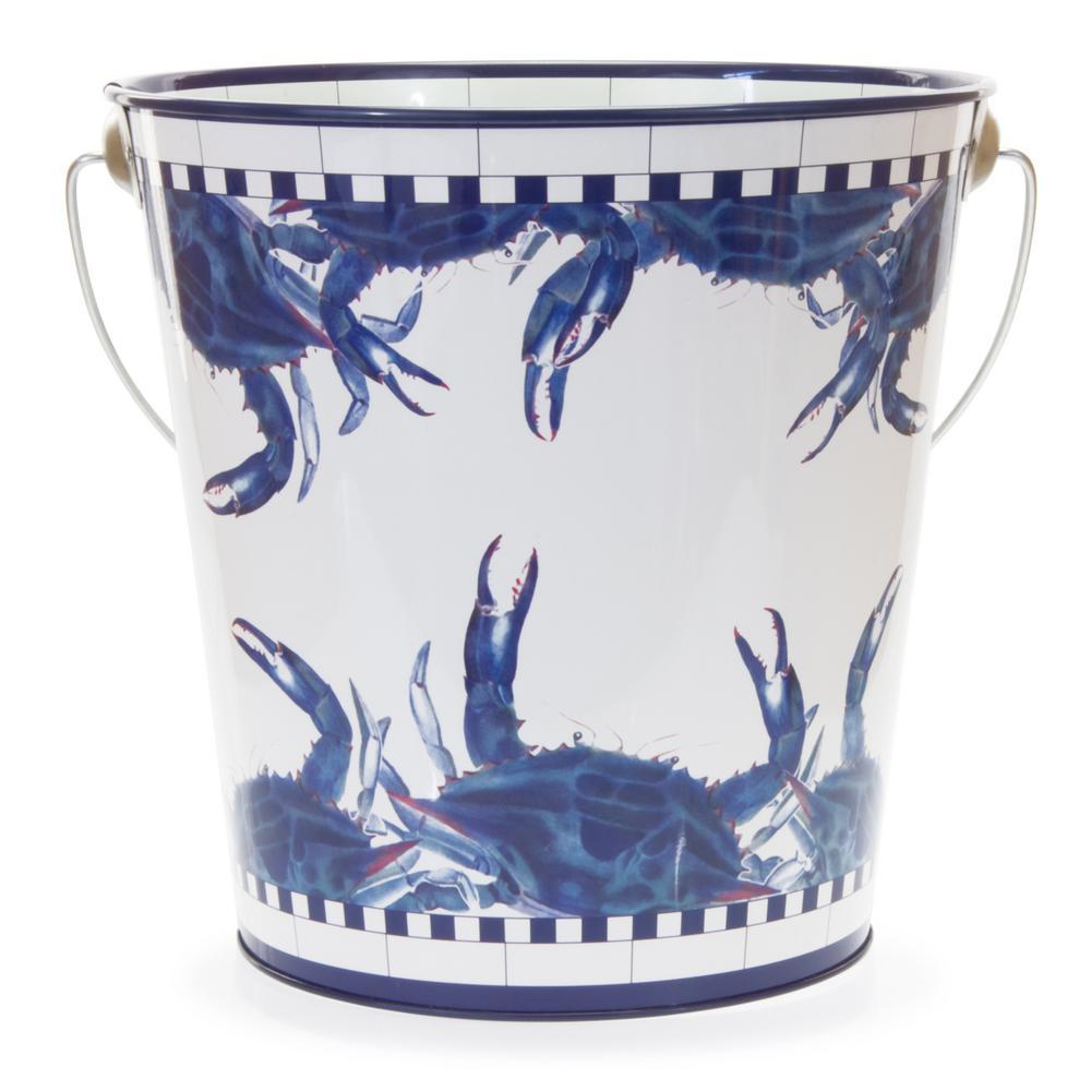 Blue Crab 3 Gal. Decorative Steel Pail