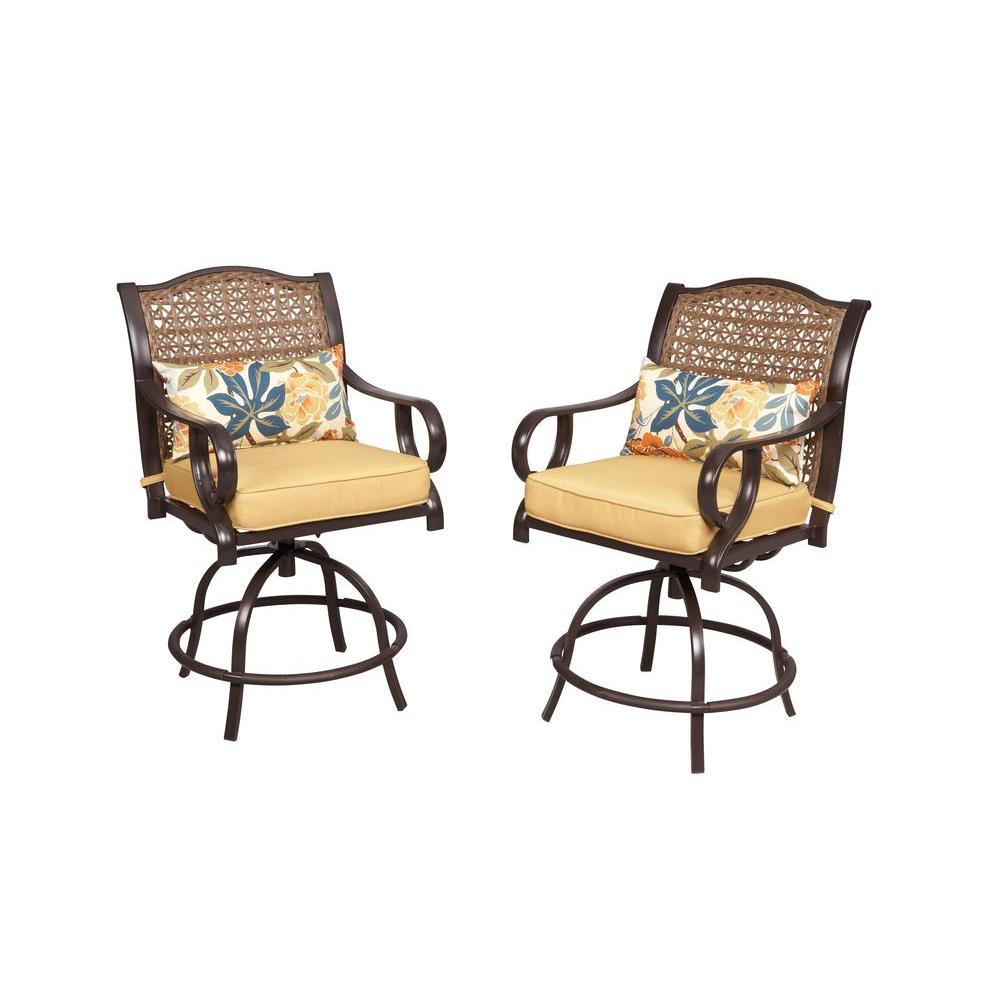 Hampton Bay Vichy Springs Patio High Dining Chairs (2 Pack)