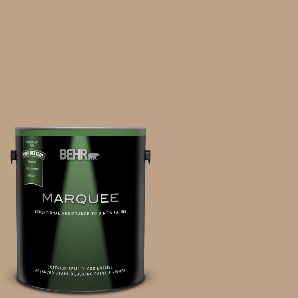 Behr Marquee 1 Gal Ppu4 05 Basketry Semi Gloss Enamel Exterior Paint And Primer In One 545401 The Home Depot