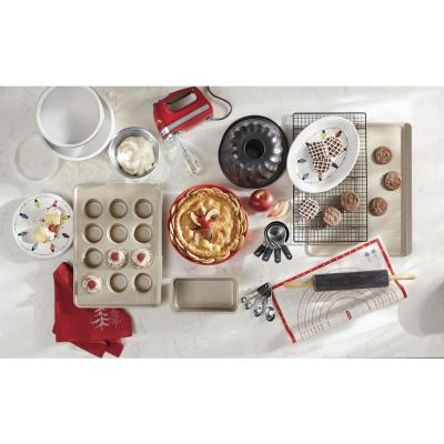 KitchenAid-9-Speed Empire Red Hand Mixer with Beater and Whisk Attachments