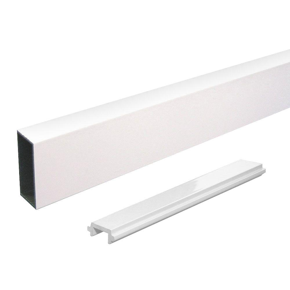 Peak Aluminum Railing Aluminum Single Wide Picket and Spacer Kit in White