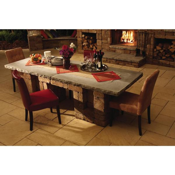 Necessories Santa Fe Rectangle Patio Dining Table 4201133 The Home Depot