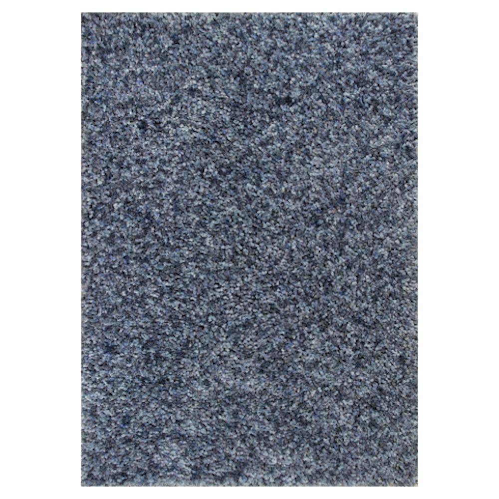Kas Rugs Stocky Shag Blue/Light Blue 3 ft. 3 in. x 5 ft. 3 in. Area Rug