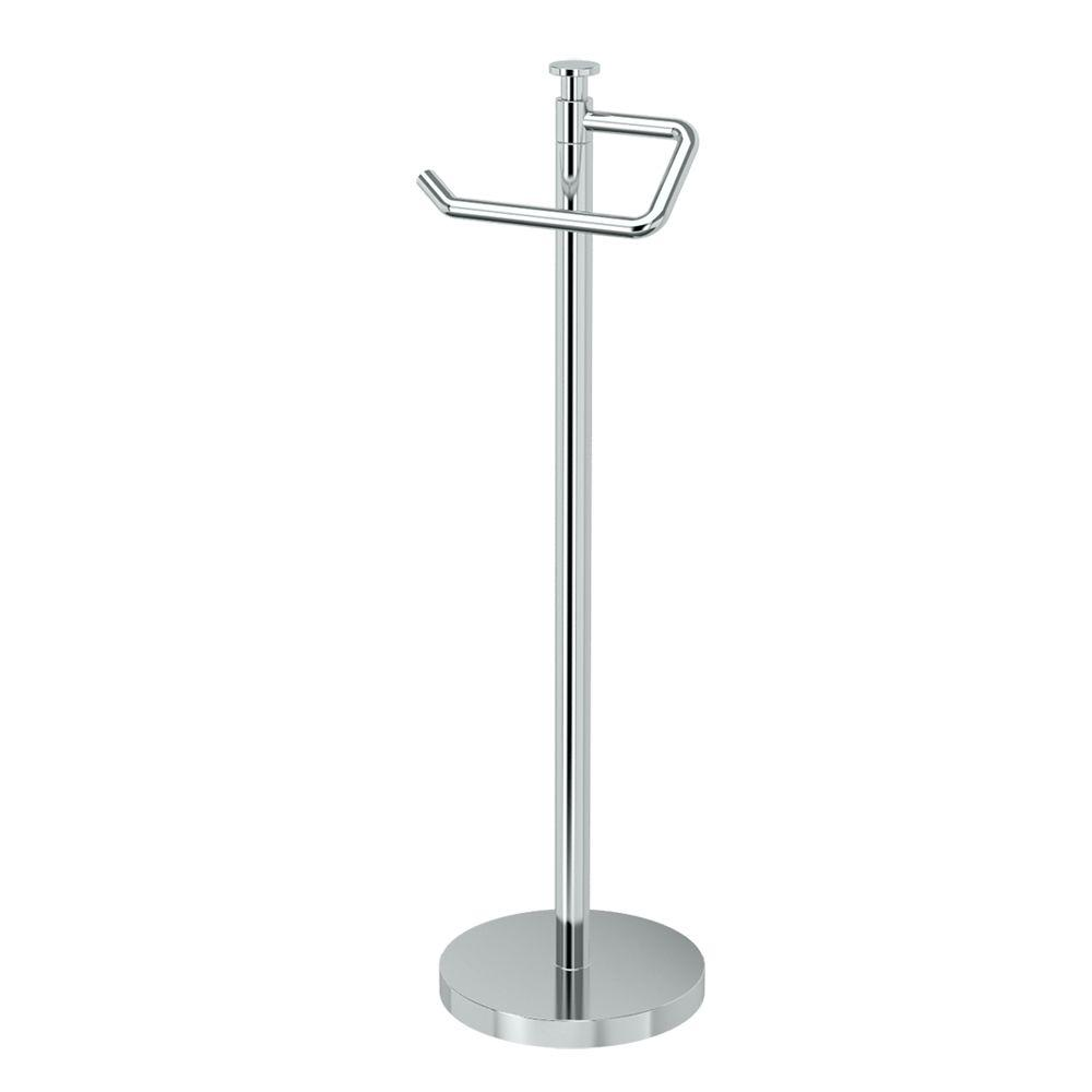 Freestanding Toilet Paper Holder in Polished Chrome